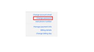 Netfllix account setting on pc