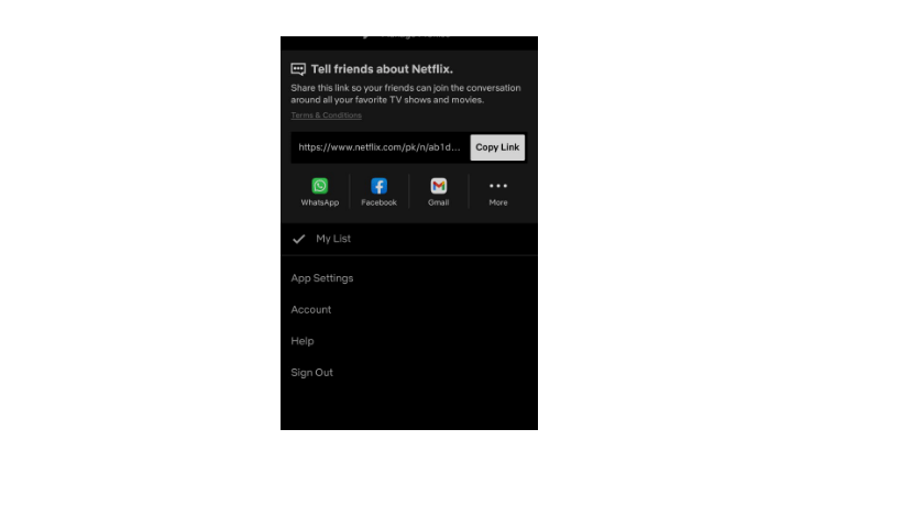netflix password change on app